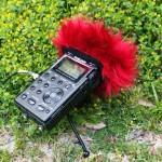 フィールドレコーディングやライブ録音時の風のふかれ対策に便利なウィンドジャマー自作 (比較音あり)。